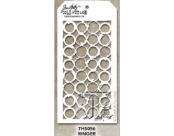 THS056 Stampers Anonymous Tim Holtz Layering Stencil - Ringer